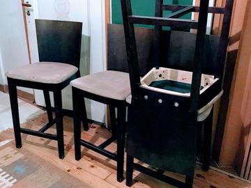 Myydään: 4 dinning high sits