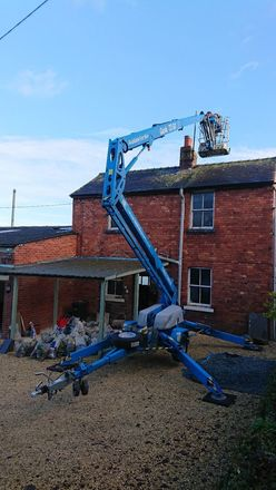Trailer Mounted Towable Cherry Picker Boom Lift Genie Access