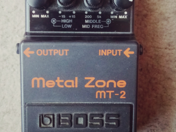 Renting out: Boss Metal Zone MT-2 Guitar Distortion Pedal (Diezel Mod)