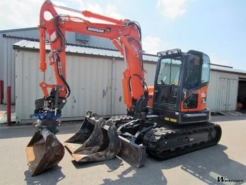 Daily Equipment Rental: Doosan 8Te Excavator For Hire - Brand New