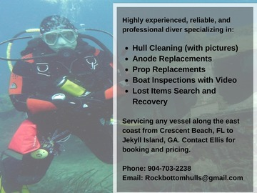 Offering: Diving Services - St. Augustine, FL