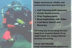 Offering: Diving and Boat Hull Cleaning Services - St. Augustine, FL