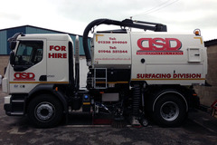 Hourly Equipment Rental: Night Time Road Sweeper Hire - Cumbria