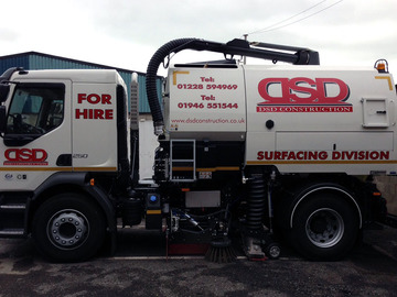 Daily Equipment Rental: Daily Road Sweeper Hire - Cumbria