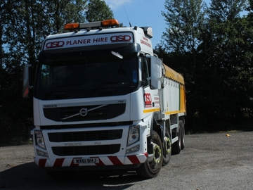 Hourly Equipment Rental: Volvo 8x4 Tipper Tarmac Spec