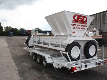 Daily Equipment Rental: 12 ft Hydrostatic Chip Spreader & Trailer