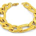 Sell: 50 PIECES -8MM 14KT GOLD OVERLAY CUBAN LINK BRACELET
