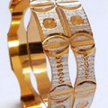 Sell: (80) New Diamond Cut Golden Indian Bangles
