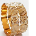 Sell: (243) New Diamond Cut Golden Bangles -PRICE DROP