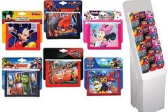 Sell: 96 ASSORTED LICENSED KIDS WALLETS WITH DISPLAY UNIT