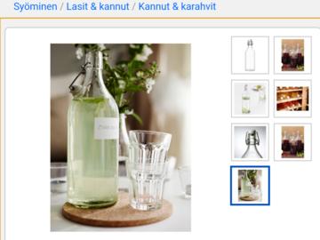 Ilmoitus: Ostetaan ikean lasipulloja
