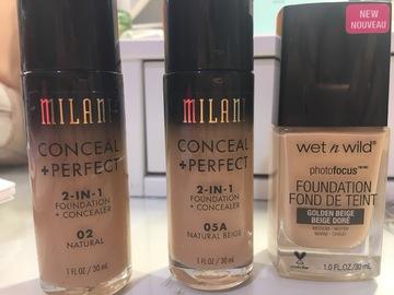Venta: Bases milani y WnW (precios en descripción)