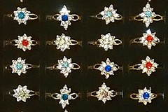 Sell: (288) New Cubic Zirconia type Royal Design Fashion Rings