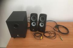 Myydään: Logitech subwoofer speakers