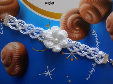 Vente au détail: bracelet  au crochet/bracelet dentelle mariage