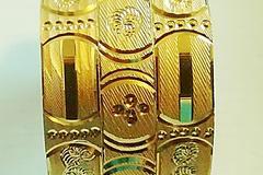 Sell: (40) Newest Elegant Antique Diamond Cut Golden Bangles