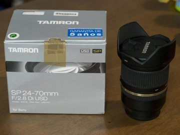 Myydään: Tamron 24-70 f:2.8 Di USD (A mount)+LA-EA3