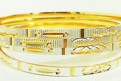 Sell: 240 Diamond Cut Designer Golden Bangles