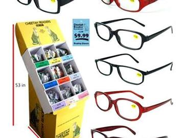 Sell: 360 CHEETAH FASHION READERS WITH DISPLAY, $3,596 RETAIL VAL.