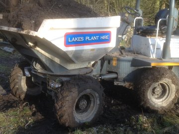 Daily Equipment Rental: 3ton swivel dumper