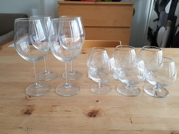 Myydään: 6 x Cognac & 4 x Wine Glasses