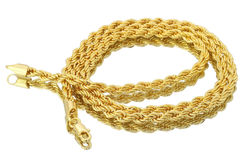 Sell: 36 PIECES -6MM 14KT GOLD OVERLAY ROPE LINK CHAIN
