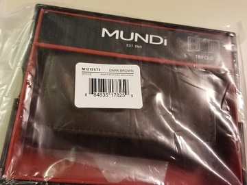 Sell: 15 MUNDI MEN'S LEATHER WALLETS, $600 RETAIL VALUE