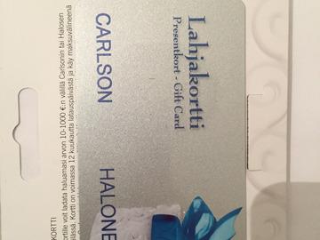 Myydään: 50€ Halonen/Carlson gift card