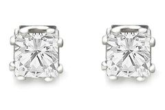 Sell: 100 pair - 1 CARAT T.W.  PRINCESS CUT CZ STUD EARRINGS