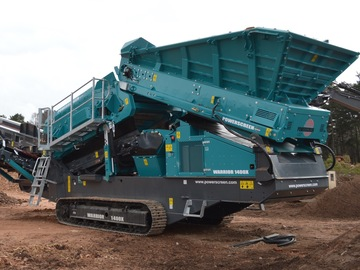 Hourly Equipment Rental: Powerscreen Warrior 1400x Screening Machine