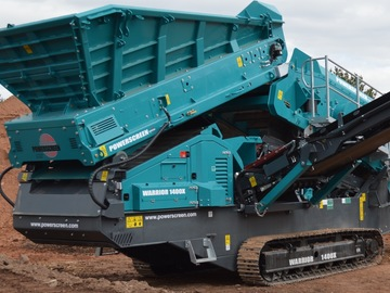 Daily Equipment Rental: Powerscreen Warrior 1400x Screening Machine