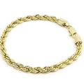 Liquidation Lot: 50 pieces  14KT GOLD OVERLAY ROPE BRACELETS 6MM 8.5 Inches