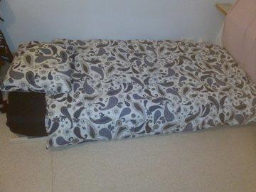 Myydään: Bed + blankets + pillow + frame