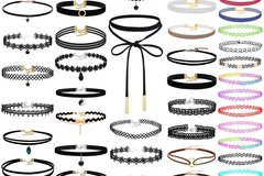 Sell: 200Pcs Black Choker Necklaces  for Teen ,Girls and Women
