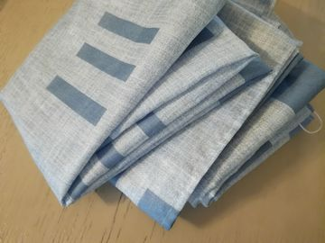 Myydään: 2x Blue curtains, 120x180cm