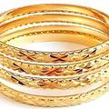 Sell: (80) New Mix Multitone Multilayer Golden Bangle Bracelet