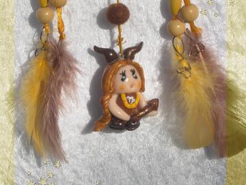 Vente au détail: Petit Attrape-rêves féerique figurine zodiaque capricorne fi