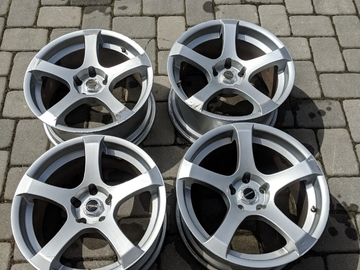 Selling: 18x8.5 | 5x100 | Liquid Metal Static Silver Rims for sale