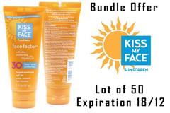 Sell: Lot of 50 Kiss My Face Ultra Moisturizing  Sunscreen 2oz