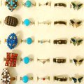 Sell: 1000+ Mixed Rings-Bohemian, Rhodium plated, Turquoise & Mood