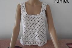 Vente au détail: top femme coton dentelle blanche crochet .-taille 42