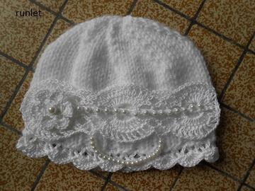 Sale retail: bonnet bébé crochet fille