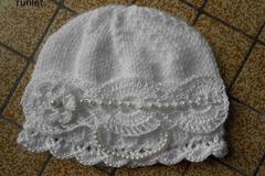 Vente au détail: bonnet bébé crochet fille