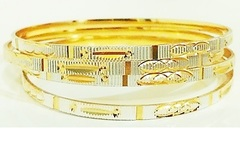 Sell: 240 Diamond Cut Designer Golden Bangles