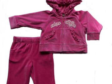 Sell: 13 Harley Davidson Infant Baby Girls 2pc. Velour Suit - Pink