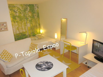 Annetaan vuokralle: Cozy,clean,bright,furnished 33m²studio near Aalto Univ. 1.6-