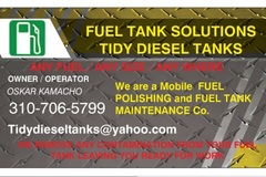 Offering: Fuel polishing tank cleaning
