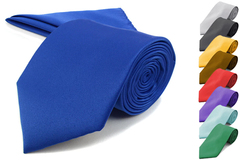 Sell: Assorted Color 72 pc Satin Tie & Matching Pocket Square Set