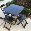 Sell: 4 Sets of Folding Square Table w/ 4 folding chairs per set