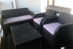 Selling: Terrace set 1 sofa + 2 chairs + table